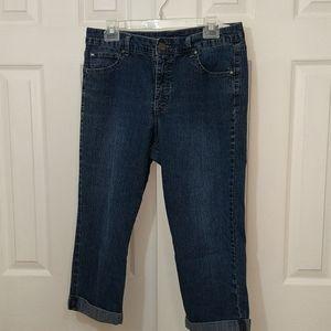 Bandolino Mandie cuffed jeans size 12